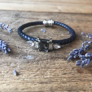 LOFT Cast Black Leather Bracelet